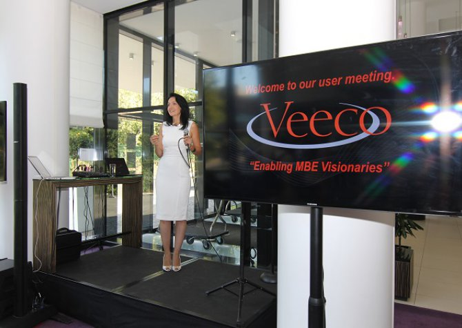 User Meeting Evening for Veeco - September 2016 - 250 persons