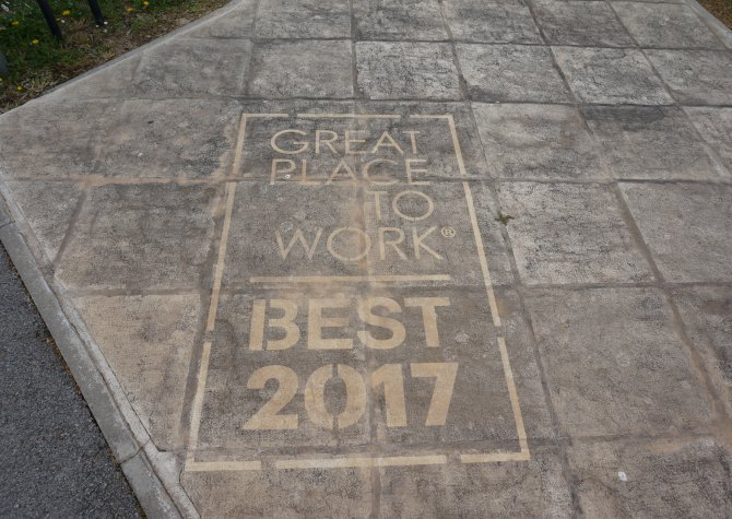Great place to work 2017 - March 2017 - 800 persons